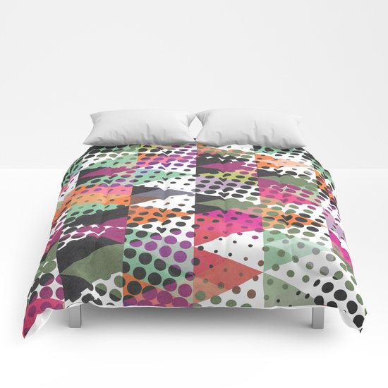 Dots and Triangles III  Comforters