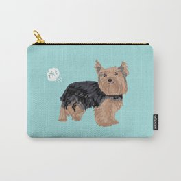 yorkie funny farting dog breed pure breed pet gifts yorkshire terrier Carry-All Pouch
