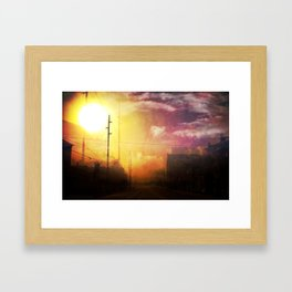 The West End Of Town Framed Art Print