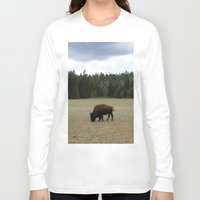 buffalo Long Sleeve T-shirts featuring Buffalo  by Taylor Palmer