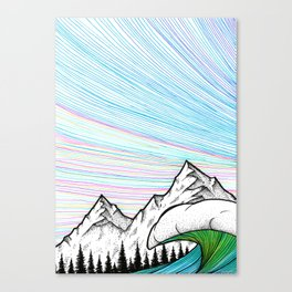 Pink lines Canvas Print