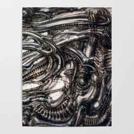 Giger Biomechanical Landscape Poster