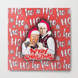 Merry Christmas From Trump And Putin Metal Print