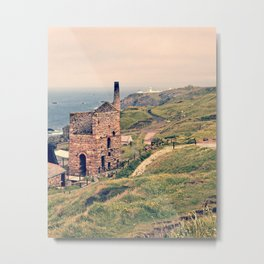 Levant Tin Mine Metal Print