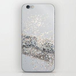 Silver Gray Glitter #2 #shiny #decor #art #society6 iPhone Skin