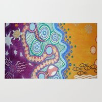 transformer Area & Throw Rugs featuring Rainbow Serpent by Art by Risa Oram