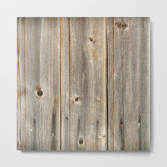 Old Rustic Wood Texture Metal Print