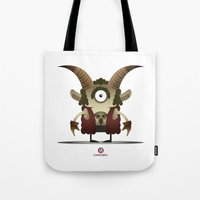 capricorn Tote Bags featuring CAPRICORN by Angelo Cerantola