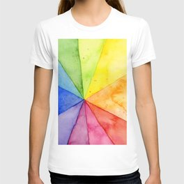Rainbow Watercolor Geometric Pattern T-shirt
