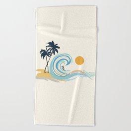 Minimalistic Summer II Beach Towel
