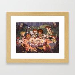 Cub Scout Campfire Framed Art Print