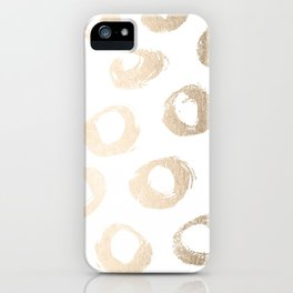 Luxe Gold City Dot Circles iPhone Case