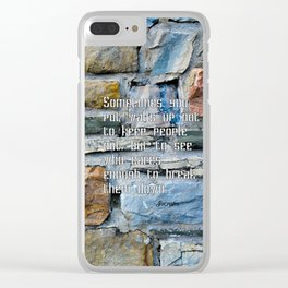 building walls Clear iPhone Case
