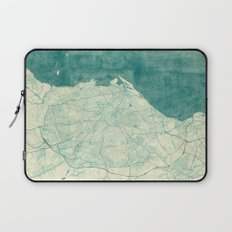 Edinburgh Map Blue Vintage Laptop Sleeve