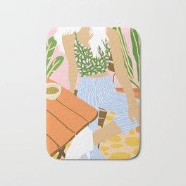 Kawa Tea #illustration #fashion Bath Mat