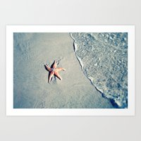 starfish Art Prints featuring Starfish  by Bree Madden