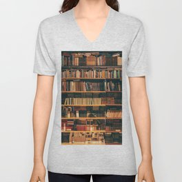 Library Bookshelf Unisex V-Neck