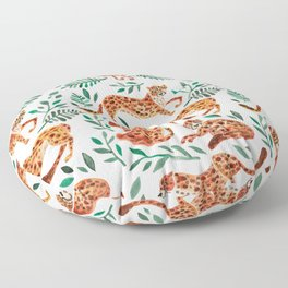 Cheetah Collection – Orange & Green Palette Floor Pillow