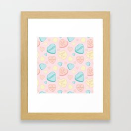 Introvert Conversation Hearts Framed Art Print