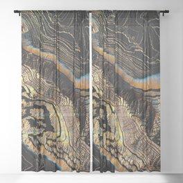 Golden Canyons Sheer Curtain