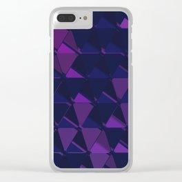 3D Futuristic GEO BG IV Clear iPhone Case
