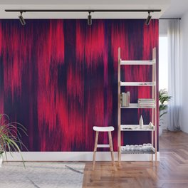 DYNAMIC  Glitch  Powerful Red and Blue Wall Mural