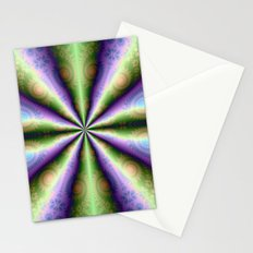 10 Cones in Green and Purple Stationery Cards