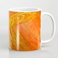 all seeing eye Mugs featuring All Seeing Eye by Ana Lillith Bar