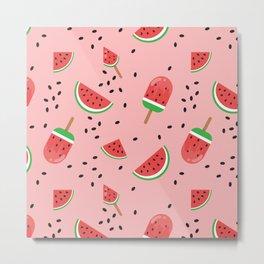 Summer Watermelon Ice Cream Metal Print