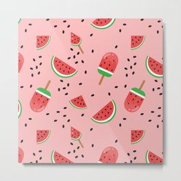 Summer Watermelon Ice Cream Metal Print
