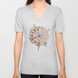 Il y a Beauté dans le Temps (There is Beauty in Time) Unisex V-Neck