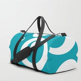Circles Dots Bubbles :: Turquoise Duffle Bag