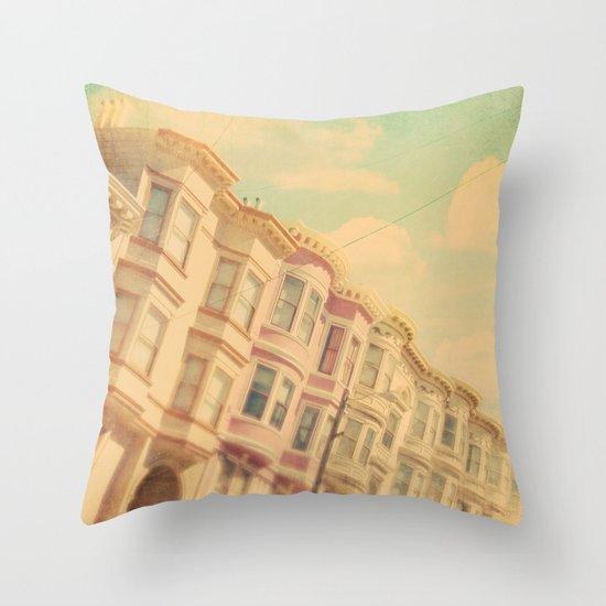 Sweet San Francisco. SF photograph Throw Pillow