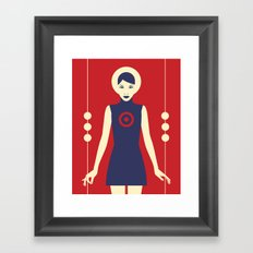 Isolde Red Framed Art Print