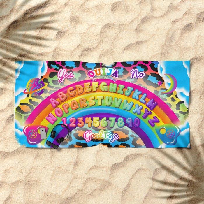 1997 Neon Rainbow Ouija Board Beach Towel