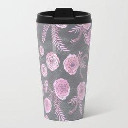 Peony Pattern Grey 2 Travel Mug
