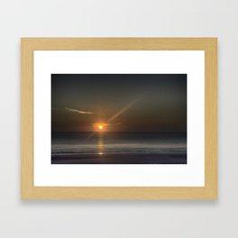 Breaking Dawn Daytona Beach Framed Art Print