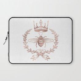 Queen Bee in Rose Gold Pink Laptop Sleeve