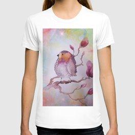 watercolor bird T-shirt