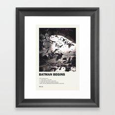 The Bat Begins Framed Art Print