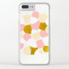 Pink Abstract painting Clear iPhone Case