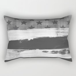 American Flag Distress Grunge Stars and Stripes Rectangular Pillow