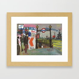 London #2. Piccadilly Circus Framed Art Print