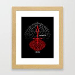 Fate/Zero Saber Framed Art Print