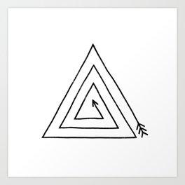Arrow Triangle - option Art Print