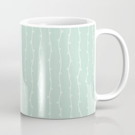 Willow Stripes - Sea Foam Green Coffee Mug