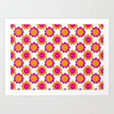 Button Flowers Art Print