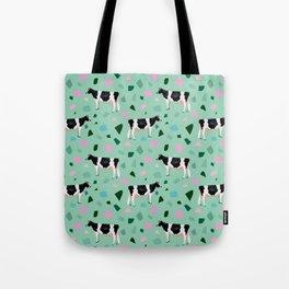 Terrazzo Holsteins // Mint Tote Bag