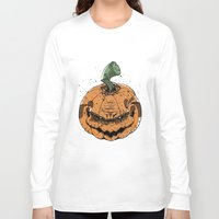 pumpkin Long Sleeve T-shirts featuring Pumpkin by Kape