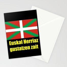 Flag of Euskal Herria 5 -Basque,Pays basque,Vasconia,pais vasco,Bayonne,Dax,Navarre,Bilbao,Pelote,sp Stationery Cards